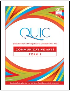 QUIC J Communicative Arts Self-Scoring - Package of 20 Test Booklets - Product Image