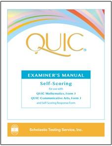 QUIC J Examiner's Manual-Self Scoring - Product Image