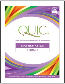 QUIC J Mathematics Self-Scoring - Package of 20 Test Booklets - Product Image