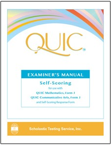 QUIC J Examiner's Manual-Self Scoring - Product Image